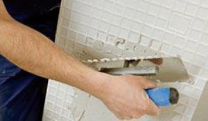 Etap VII - Nakładanie kleju na płytki