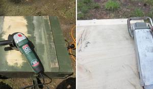 KROK II - Szlifowanie skrzyni drewnianej