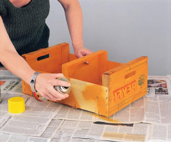 Meble Ogrodowe Z Drewna Zrob To Sam : Zrób to sam meble z recyklingu Półka do kuchni ze skrzynek po